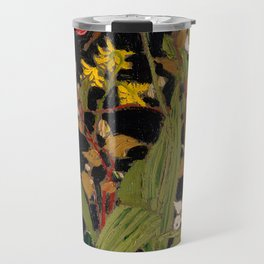 Tom Thomson - Moccasin Flower, Orchids, Algonquin Park - Canada, Canadian Oil Painting - Group of Se Travel Mug