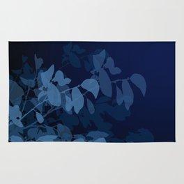 Blue Leaves Rug