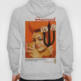 Vodka Martini, A devilishly dry proposition Vintage Pitchfork - Devil Advertisement Poster Hoody