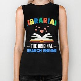 Funny Librarian Shirt. Costume From Kids Biker Tank