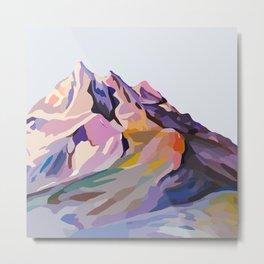 Serene Mountains Design Metal Print