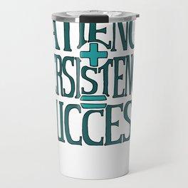 Success, turquoise Travel Mug