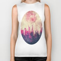 city Biker Tanks featuring Mysterious city by SensualPatterns