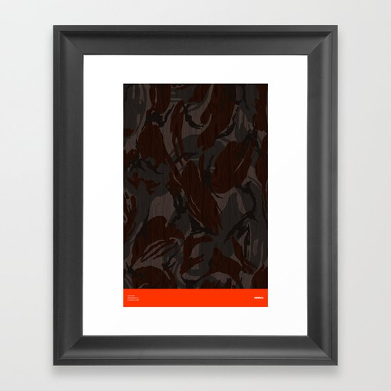 Modern Woodgrain Camouflage / British DPM Framed Art Print
