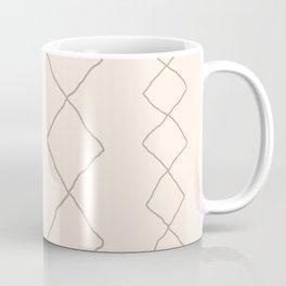 Moroccan Diamond Stripe in Natural Coffee Mug