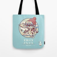 miles davis Tote Bags featuring MILES AWAY by MFK00 aka Alex Arizmendi