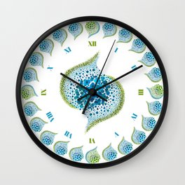 Paths of Color [Turquoise, Blue and Green] Wall Clock