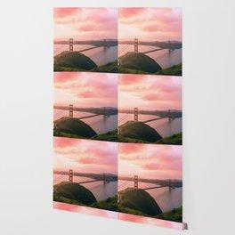 Sherbert Skies over the Golden Gate Bridge from Slackerhill Wallpaper