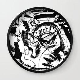 Shelter - b&w Wall Clock