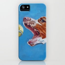 Brittany Spaniel Dog Portrait iPhone Case