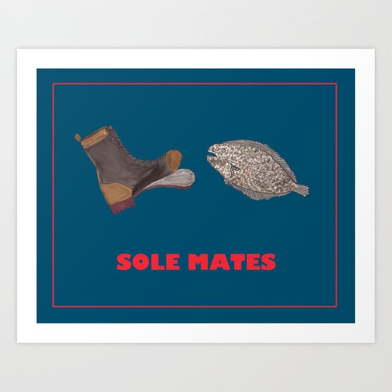 sole mates Art Print