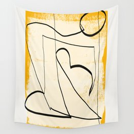 Abstract line art 4 Wall Tapestry