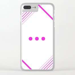 Anticipation Clear iPhone Case