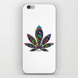Butterflies Cannabis Leaf iPhone Skin