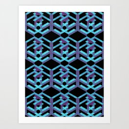 Impossible Interlace Art Print