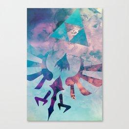 Watercolored Hylian Crest Canvas Print
