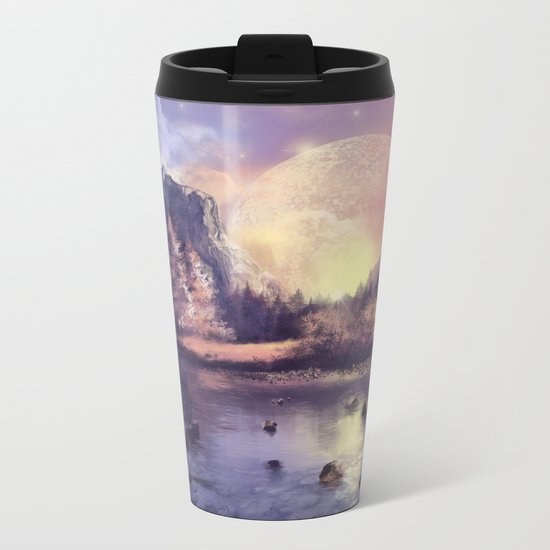 fantasy landscape Metal Travel Mug