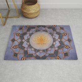 Mandala Lotus Flower Purple Spiritual Zen Bohemian Hippie Festival Yoga Mantra Meditation Rug