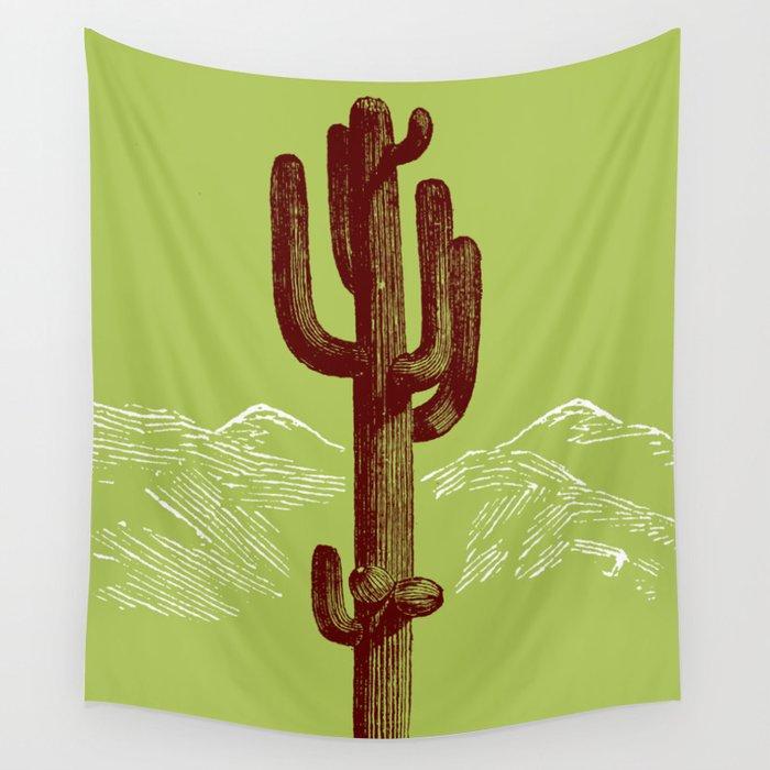 cactus y nieve Wall Tapestry
