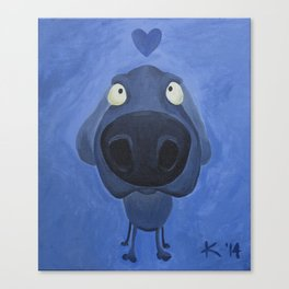 Weimaraner Love - Blue Canvas Print
