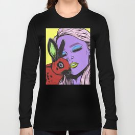 girl with rabbit Long Sleeve T-shirt