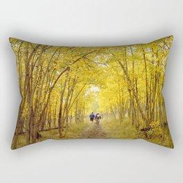 Fall's Golden Tunnel Rectangular Pillow