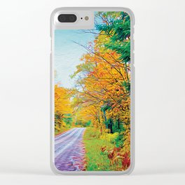 Back Road in the Fall Clear iPhone Case