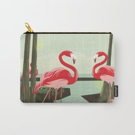 Flamingos in the Swamp Carry-All Pouch