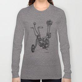 Cartoon Retro Mod Stingray 8-Track Muscle Bike Bicycle Stingray Long Sleeve T-shirt