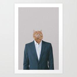 Business Cat Art Print