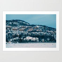 Winter Night Art Print