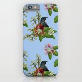 Tui in Pohutukawa Flowers iPhone Case