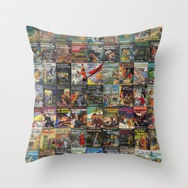 Vintage childrens' mystery series books Throw Pillow
