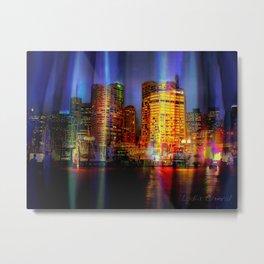 Behind the curtain 3 (Sydney) Metal Print