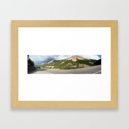 Overlooking the Famous Gold Mines of the Red Mountains Framed Art Print