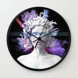 Medusa color blast  Wall Clock