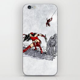 Elektra and Daredevil iPhone Skin