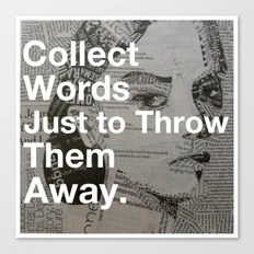 Collect words... Canvas Print