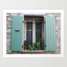 French Window in mint Art Print