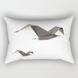 Origami Seagull Rectangular Pillow