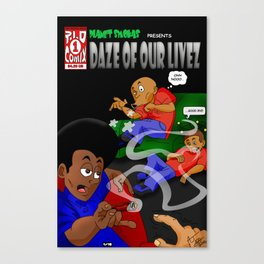"Planet Smokas presents Daze of Our Livez - Cover ""What We Do"" Profile Page 9/10 Canvas Print"