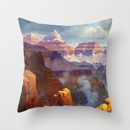 Temple of the Indian Gods (Grand Canyon) by William R. Leigh Throw Pillow