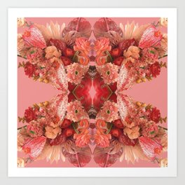 Red Bunch Art Print