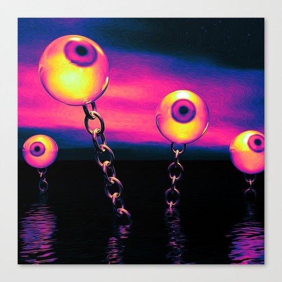 Pop Art Eyes Seascape Canvas Print