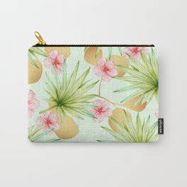 Fancy Tropical Pattern Carry-All Pouch