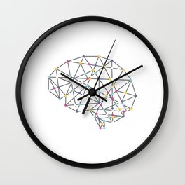 Brainy Tee For Smart People T-shirt Design Intellect Intellectual Intelligence Mind Mentality Wall Clock