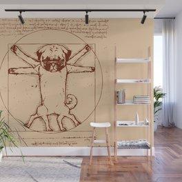 Vitruvian pug Wall Mural