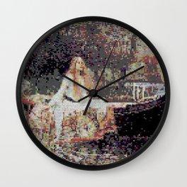 Lady of Shallot Glitch II Wall Clock