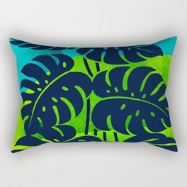 PLANTS - Philodendron#1_abstract bgr Rectangular Pillow