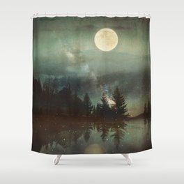 Midnight Fireflies Shower Curtain